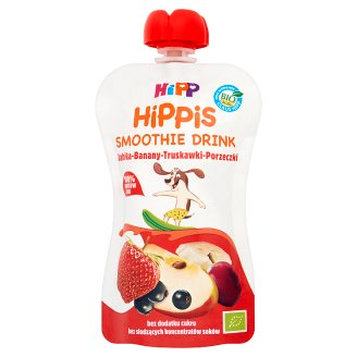 HiPP BIO HiPPiS Apple-Banana-Strawberry-Currants Fruit and Juice Mousse after 1. Year Onwards 120 ml