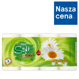 Tesco Soft Luxury Camomile Papier toaletowy 8 rolek
