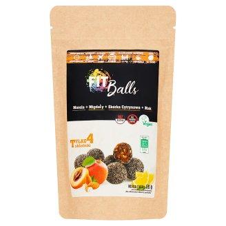 Fit Balls Pasta z suszonych moreli migdały + skórka cytrynowa + mak 96 g