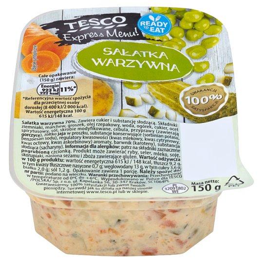 Tesco Express Menu! Vegetable Salad 150 g