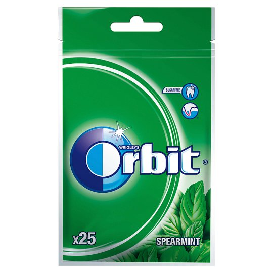 Orbit Sugarfree Spearmint Chewing Gum 35 g (25 Pieces)