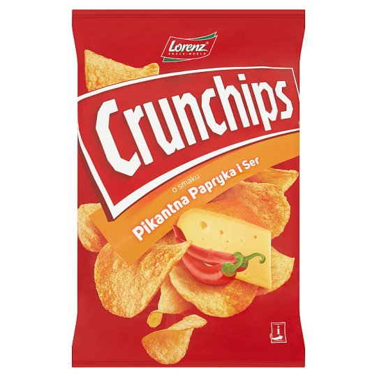 Crunchips Spicy Paprika and Cheese Flavour Potato Chips 140 g