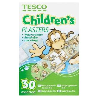 Tesco Zestaw plastrów opatrunkowych dla dzieci 30 sztuk