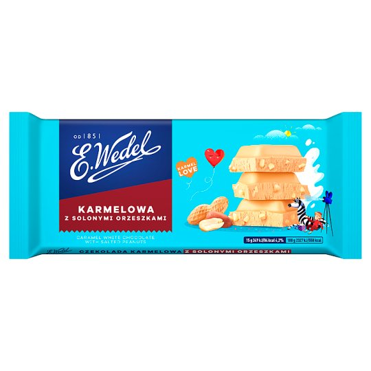 E. Wedel Karmellove! Caramel White Chocolate with Salted Peanuts 90 g