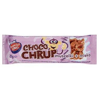 Breakfast King Choco Chrup Baton z płatków zbożowych w polewie mlecznej 25 g