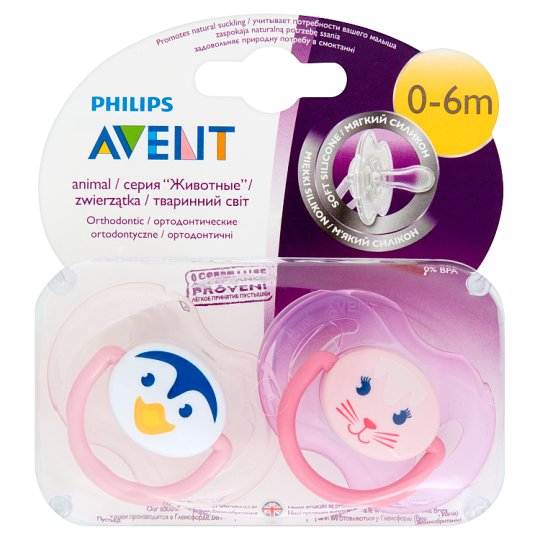Avent Animal Soothers 0-6 Months 2 Pieces