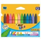 Bic Kids Plastidecor Triangle Triangular Colouring Crayon 12 Colours