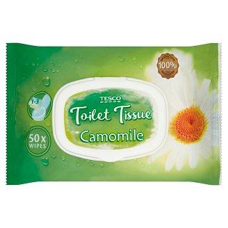 Tesco Papier toaletowy nawilżany rumiankowy 50 sztuk
