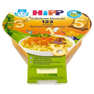 HiPP BIO 123 Digital Noodles in Pumpkin Creamy Sauce for Children 1-3 Years 250 g