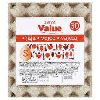 Tesco Value Eggs S 30 Pieces
