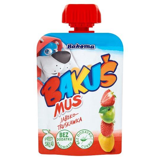 Bakoma Bakuś into the Pocket Apple and Strawberry Fruit Mousse 90 g