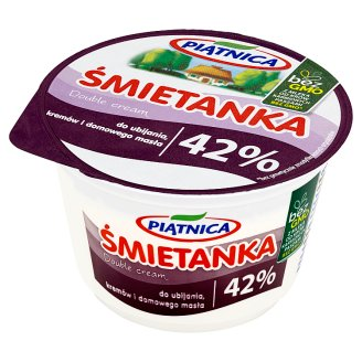 Piątnica 42% Fat Whipping Cream and Homemade Butter Double Cream 200 ml