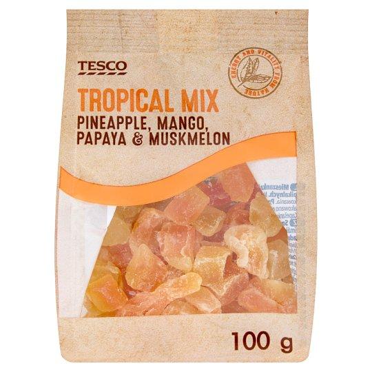 Tesco Mieszanka kandyzowanych suszonych owoców tropikalnych 100 g