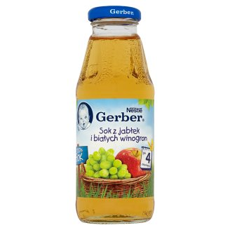 Gerber 100% Sok Apple and White Grapes Juice after 4 Months Onwards 300 ml