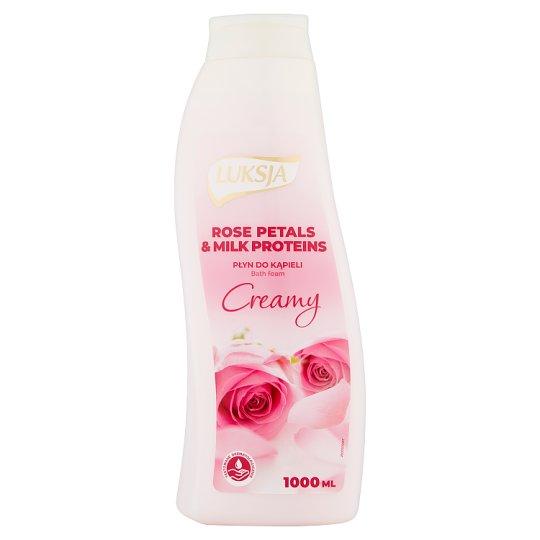Luksja Creamy Rose Petals & Milk Proteins Bath Foam 1000 ml