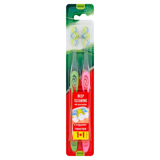 Colgate Twister Medium Toothbrush 2 Pieces