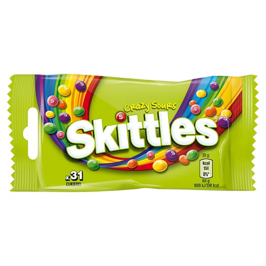 Skittles Crazy Sours Chewing Candies 38 g (31 Pieces)
