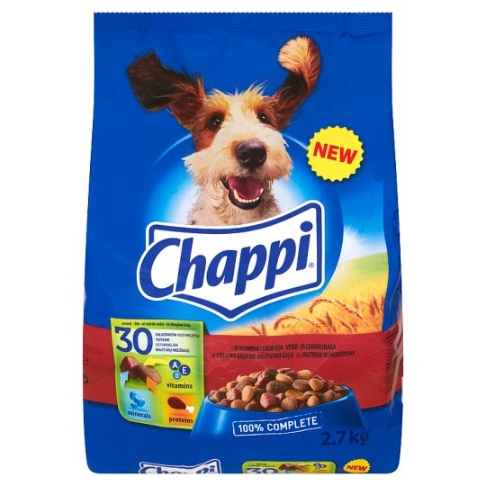 Chappi Complete Food for Adult Dogs with Beef and Chicken 2.7 kg