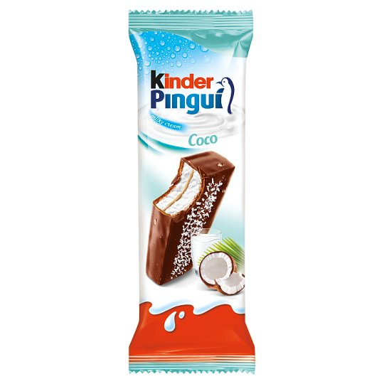 Kinder Pingui Coco Sponge Cake Filled with Milk and Covered with Chocolate 30 g