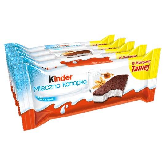 Kinder Milk Slice Sponge Cake with Milk Filling 5 x 28 g