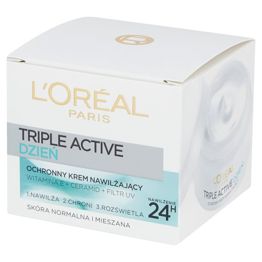 L'Oréal Paris Triple Active Protective Moisturizing Cream Normal and Mixed Skin 50 ml