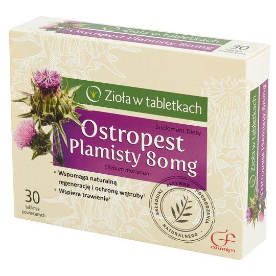 Colfarm Zioła w tabletkach Ostropest plamisty 80 mg Suplement diety 30 tabletek
