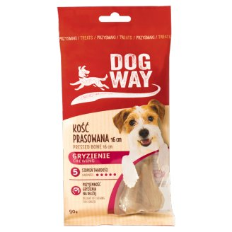 Dogway Chewing Pressed Bone 16 cm Delicacy for Dog 90 g