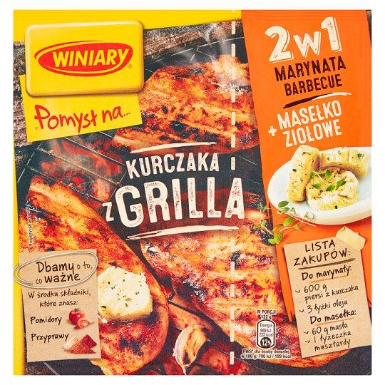 Winiary Pomysł na... Kurczaka z grilla 2w1 Marynata barbecue i Masełko ziołowe 35 g