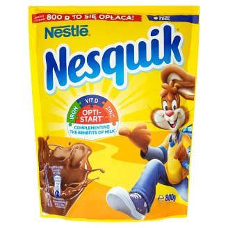Nesquik Opti-Start Rozpuszczalny napój kakaowy z dodatkiem witamin i składników mineralnych 800 g