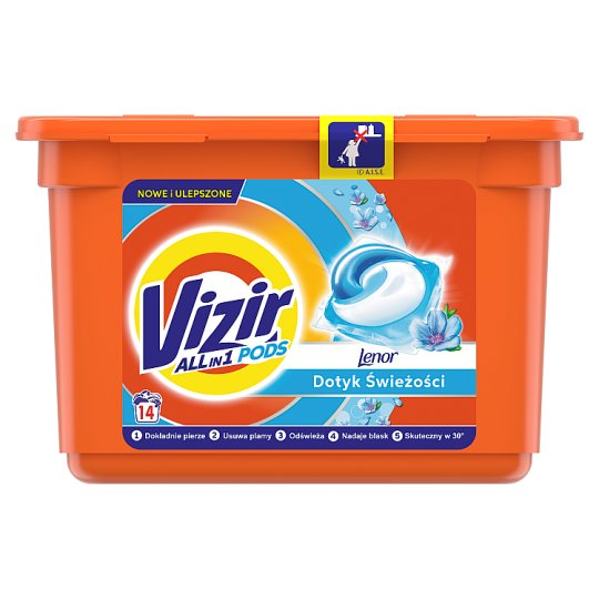 Vizir Washing Capsules Color Triple Action: Cleans Deep, Removes Stains & Protects Colors 14 Washes