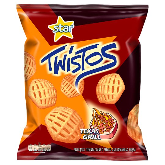 Twistos Texas Grill Flavoured Potatoes Snacks 110 g