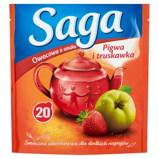 Saga Quince and Strawberry Flavour Fruit Tea 34 g (20 Tea Bags)