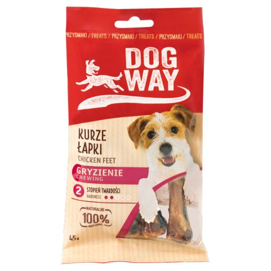 Dogway Chewing Chicken Feet Delicacy for Dog 45 g