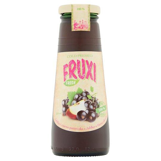 Fruxi Fresh 100% sok tłoczony ze świeżych owoców jabłko i czarna porzeczka 250 ml