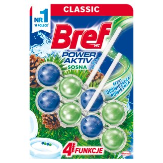 Bref WC Power Aktiv Pine Forest Toilet Rim Block 2 x 50 g