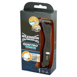 Wilkinson Sword Quattro Titanium Precision Maszynka do golenia z trymerem