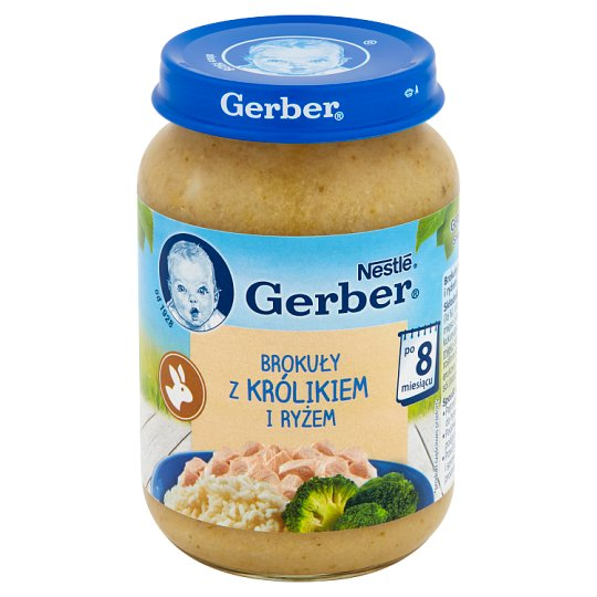 Gerber Broccoli with Rabbit and Rice after 8 Months Onwards 190 g