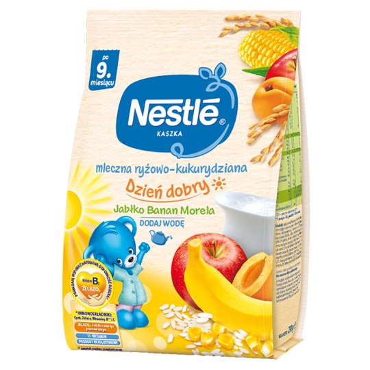 Nestlé Dzień Dobry Milk Rice-Corn Porridge Apple Banana Apricot after 9 Months Onwards 230 g