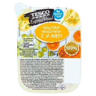 Tesco Express Menu! Vegetable Salad with Egg 150 g