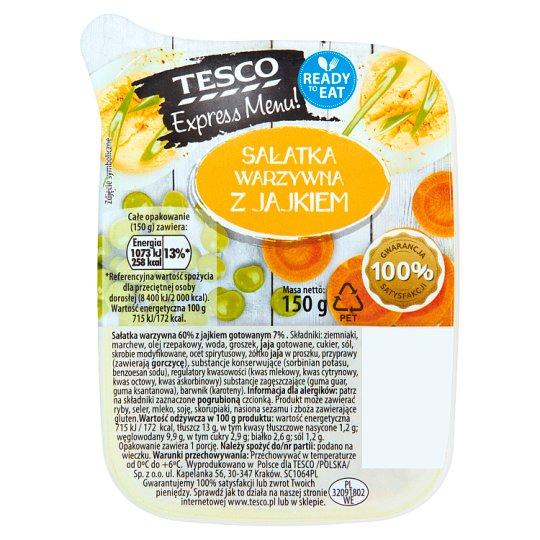 Tesco Express Menu! Sałatka warzywna z jajkiem 150 g