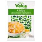 Tesco Value Chipsy ziemniaczane o smaku zielonej cebulki i sera 200 g