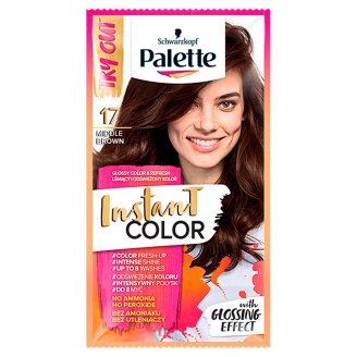 Palette Instant Color Coloring Shampoo Middle Brown 17 25 ml