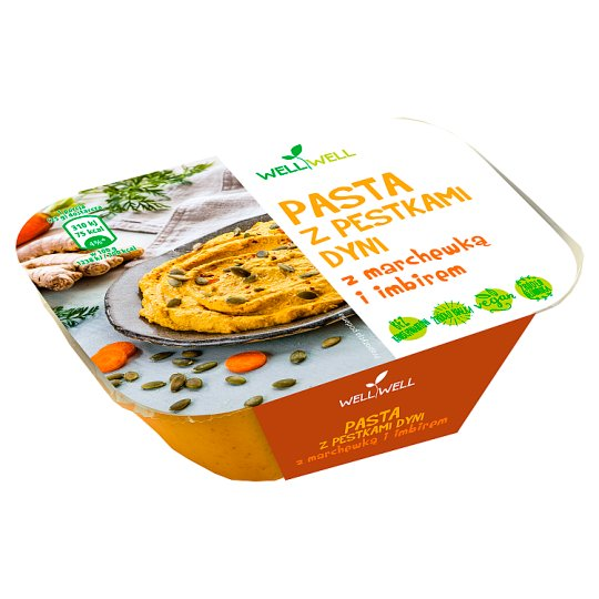 Well Well Pumpkin Seeds Pasta with Carrot and Ginger 125 g