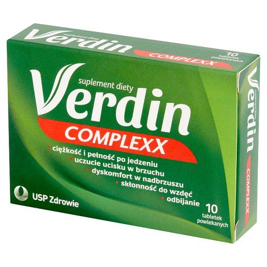 Verdin Complexx Kompleksowa pomoc dla układu trawiennego Suplement diety 10 tabletek