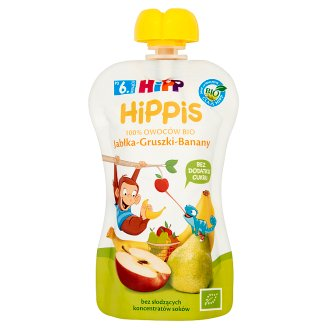 HiPP BIO HiPPiS Apples-Pears-Bananas Fruit Mousse after 6. Month Onwards 100 g