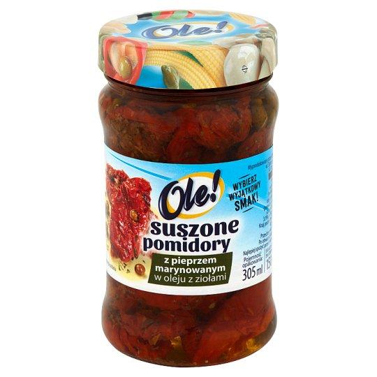 Ole! Suszone pomidory z pieprzem marynowanym w oleju z ziołami 270 g