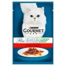 Gourmet Perle Karma dla kotów mini fileciki w sosie z warzywami wołowiną i marchewką 85 g