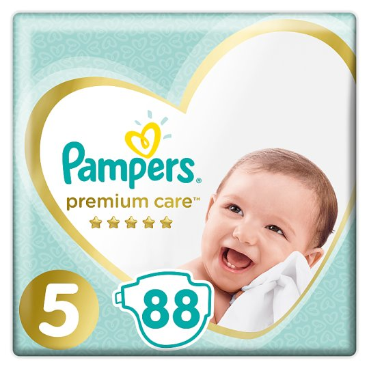 Pampers Premium Care Size 5, Nappy x88, 11kg-16kg