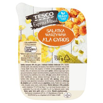 Tesco Express Menu! a'la Gyros Vegetable Salad 150 g