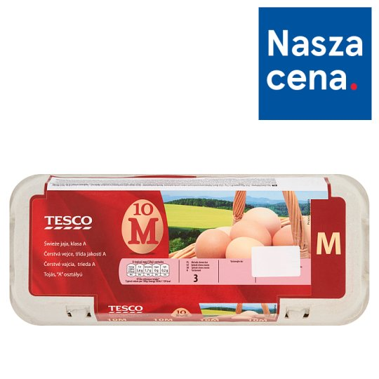 Tesco Fresh Eggs Size M 10 Pieces
